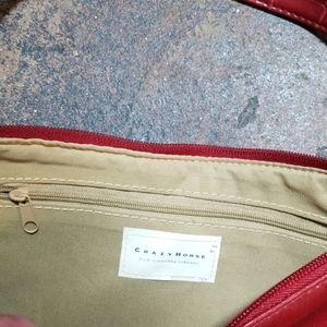 Liz Claiborne Bags - Crazy Horse Liz Claiborne Crimson Embossed Handbag